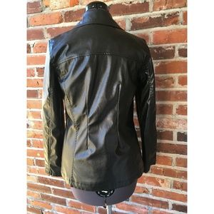 Outbrook Jackets & Coats - Outbrook Faux-Leather Jacket Zip Front Black S